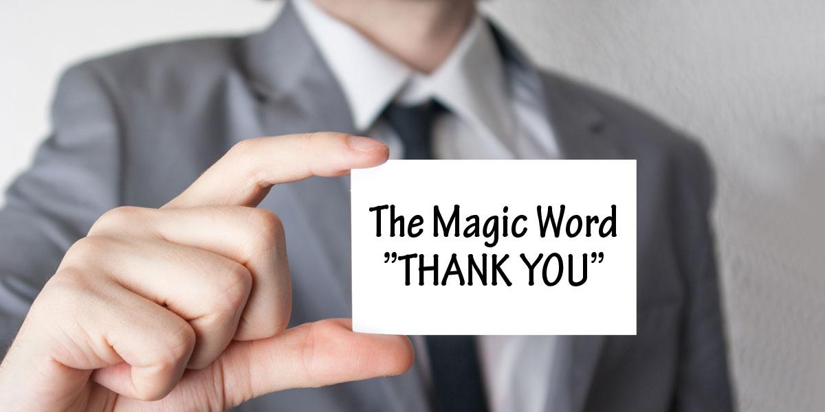 the magic word thank you furute
